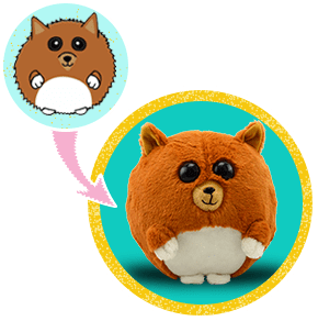 golden brown dog stuffed animal