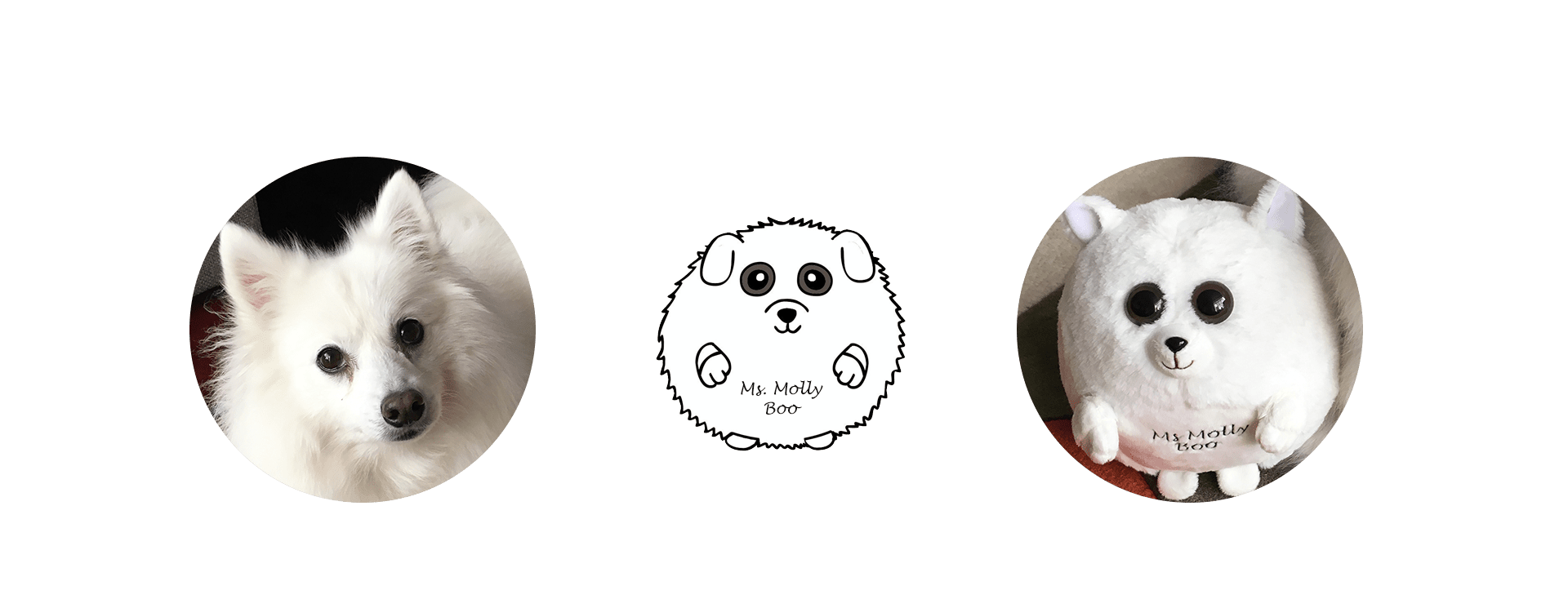 white dog plush custom ball
